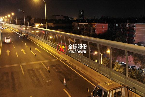 夜色城市快速路隔声铁板神算